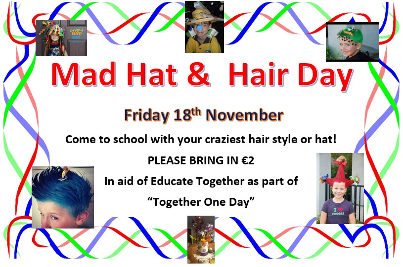 mad hat and hair day