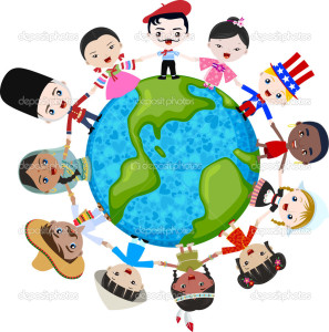 multicultural-children-on-planet-earth-stock-vector-pauljune-RwUUJH-clipart